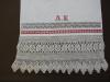 Brisača z mešanimi krasilnimi tehnikami po pranju in sušenju, zbirka SEM (foto Ana Motnikar)